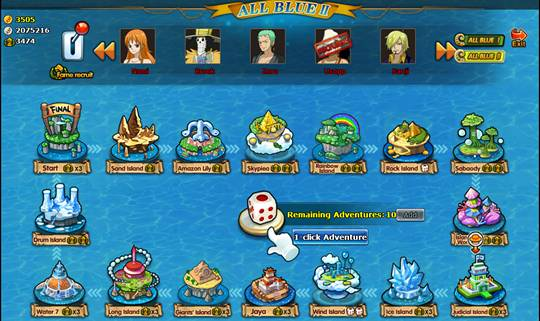 Skypiea Trail and CP9 Dungeon introduced to One Piece browser-based MMO