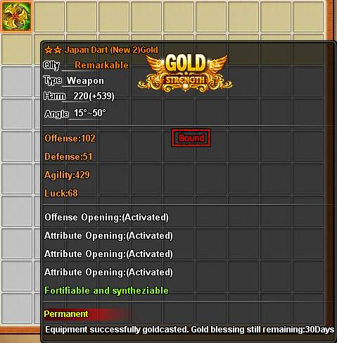 Cast Gold - Golden Weapons - DDTank-The Hottest And Cutest