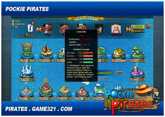 pockie pirates 321 game shows