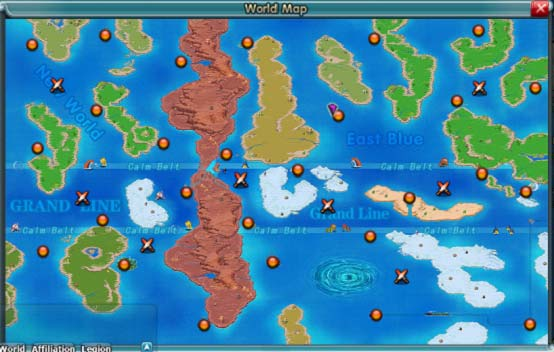 Map Of The World Of One Piece.One Piece World Map